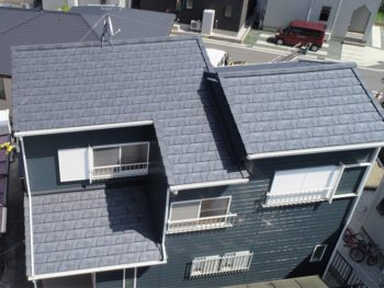 豊川市 A様邸 屋根葺き替え・外壁塗装事例